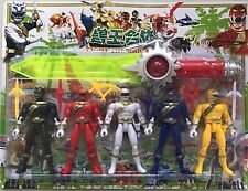 Power Rangers 14cm tall Action figures set of 5 powerrangers Plus 37cm Sword AU