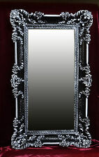 Baroque Wall Mirror Black White Dual 96x57 Antique Mirror Rococo Luxurious