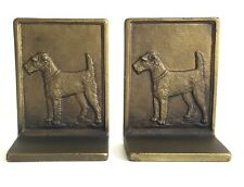 Bradley & Hubbard Lakeland or Airedale Terrier Bookends