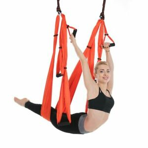 Yoga Hammock Inversion Trapeze Anti-Gravity Aerial Traction Yoga Gym Strap