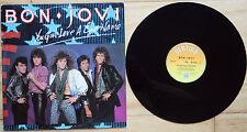 "BON JOVI YOU GIVE LOVE A BAD NAME 1986 UK 12"" vinyl"