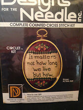 Designs For The Needle X-Stitch Circlet Kit #309, It Matters Not How Long We...