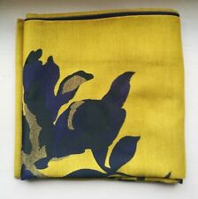 Joules Large Reversible Scarf, Jacquelyn, Gold & Navy Floral, One Size - BNWT