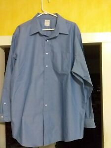 Brooks Brothers   med Blue Color Button Up  Shirt Pre-owned  Size 52