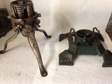 2 Antique Victorian Cast Iron Christmas Tree Stand North Bros.Phil. Usa