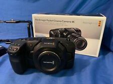 Blackmagic Design Pocket Cinema Camera 4K Camcorder w/Cage, Resolve, batteries