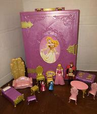 Disney Princess Sleeping Beauty Folding Doll House Furniture & Polly Pocket Doll