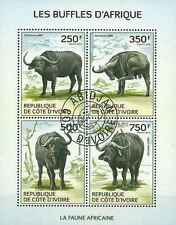 Timbres Animaux Cote d'Ivoire 1266/9 o année 2014 (14558)