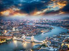 ART PRINT POSTER PHOTO CITYSCAPE AERIAL VIEW LONDON THAMES LFMP0469