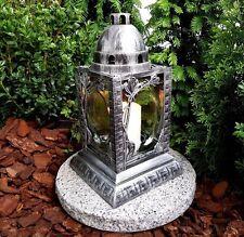 Grablaterne mit Granitsockel Grablampe Grableuchte Granit Grablicht GRAB LICHT