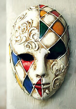 STUNNING CANVAS VENETIAN CARNIVAL MASK #3 ROMANTIC WALL HANGING PICTURE ART A1