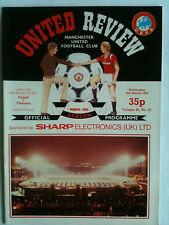 MINT 1984/85 Manchester United v Videoton UEFA Cup 4th Rd 1st Leg