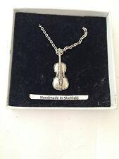 """Cello PP-M07 Emblem Silver Platinum Plated Necklace 18"""""""