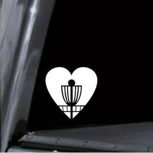 Heart Disc Golf Basket Vinyl Decal Sticker - Car Window Cooler Bottle Laptop USA
