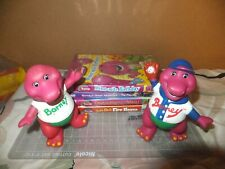 Barney The Purple Dino Lot 4 Dvds with Figures