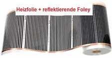 ELEKTRISCHE FUSSBODENHEIZUNG HEIZFOLIE- 10m2, 140W/m2 +reflektierende Folie 10m2