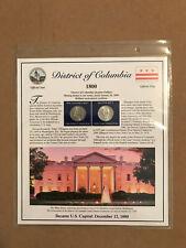 2009 District Of Columbia PCS Statehood P&D Quarter Collection Sheet