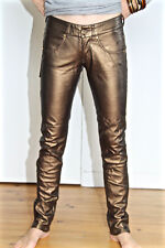 sexy pantalon faux cuir bronze MET AND FRIENDS bidys T 26 (34/36) NEUF val 220€