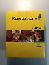 ROSETTA STONE TURKISH LEVEL 1 VERSION 3 22915 FOR PC OR MAC
