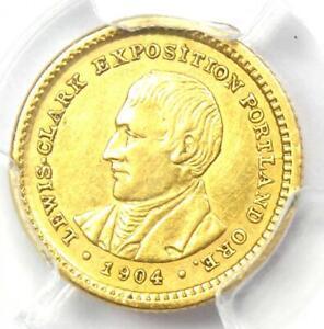 1904 Lewis & Clark Gold Dollar G$1 - Certified PCGS AU Details - Rare Coin!