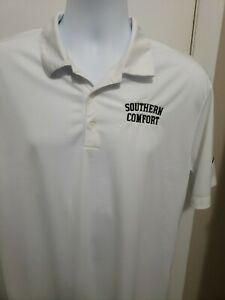"Nike Golf Dri-Fit Mens Polo Shirt Size Large White ""Southern Comfort"""