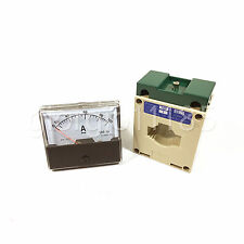 Us Stock Analog Panel Amp Current Meter Gauge Dh670 100a Ac Current Transformer