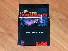 Soul Blazer Instruction Manual Booklet Super Nintendo NM Authentic