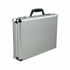 Laptop carrier Combination Lock Organizer Attache Briefcase Aluminum Silver AL54