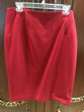 New Ann Taylor Red Wool Skirt Size 16