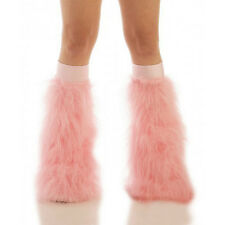 TrYptiX Baby Pink Rave Boot Cover Leg Warmer Fluffies w/ Baby Pink Knee-band EDC
