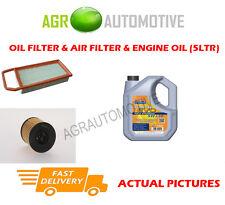 BIO PETROL OIL AIR FILTER + LL 5W30 OIL FOR PEUGEOT 407 SW 2.0 140 BHP 2009-10