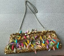 FANCY BEADED EVENING BAG/PURSE COLORFUL NWOT STANDOUT BAG!!