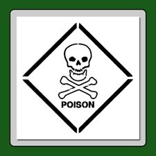 8 X 8 Stencil Skull & Crossbones Poison Label/Sign/Potion Craft/Stamp/Halloween