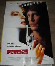 1994 LOVE is a GUN 1 SHEET MOVIE POSTER ERIC ROBERTS KELLY PRESTON THRILLER