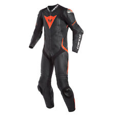 Leather Suit Dainese Laguna Seca 4 1pc 1 PC Perforated Colour Black/neon Red