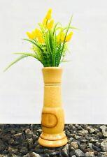 Sri Lankan Handmade decorative bamboo wood vase natural color