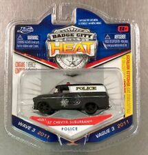 JADA '57 CHEVY SUBURBAN POLICE BADGE CITY HEAT WAVE 3 **VISIT OUR EBAY STORE **
