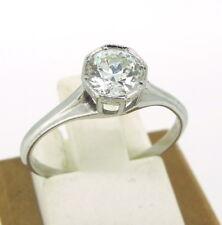 .80 ct Diamond Old Minor Cut Platinum Solitaire Engagement Ring Size 6.5