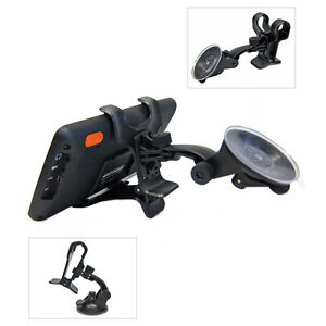 Car Windshield Suction Mount Dual Clip Holder For Garmin Drive 61 LM GPS WMDC