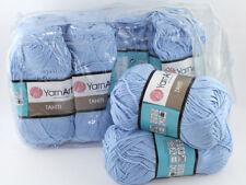 400g Wollpaket seidenweiche Wolle TAHITI Hellblau50%Bamboo 50%Baumwolle 140m/50g