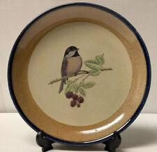 "Rare Monroe Salt Works Large Dinner Plate/Platter With Bird & Raspberries - 11"""