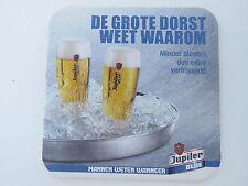 Beer Coaster: Brasserie Piedboeuf JUPILER Blue Lager; Jupille-sur-Meuse, BELGIUM