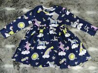 NEXT girls navy Unicorn dress  age 18-24 months * combine postage BRAND NEW B5-4
