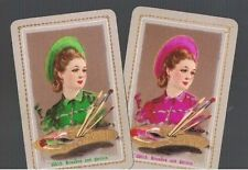 PLAYING CARDS *SWAP CARDS*2 VINTAGE ENGLISH NAMED  LADIES    PR 1930/40'S