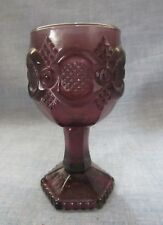 Vintage Avon Purple Glass Amethyst Cape Cod Wine Goblet Very Rare One Of A Kind