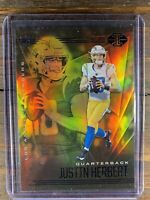 2020 Panini Illusions Orange SP JUSTIN HERBERT RC #7 LA CHARGERS ROOKIE CARD NFL