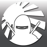 1x Funny JDM Ninja Rising Sun Car Vinyl Decal Sticker | Japanese | Euro | DUB