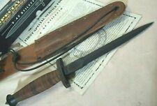 1998~CASE~U.S. V-42 STILETTO~WWII DEVILS BRIGADE FIGHTING KNIFE w/SHEATH+COA+BOX