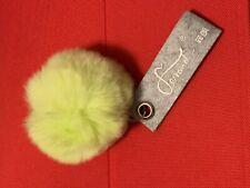 Handbag Key Ring Genuine  Rabbit Fur Ball PomPom Cell Phone Car Pendant Keychain