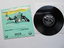 """Cimarosa Il maestro di cappella 10"""" Lp Corena (bajo) DECCA LW 5112 1958 Reino Unido Mono"""